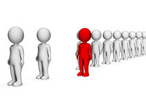 Different Characters Indicates Stand Out And Discrimination 3d Rendering Stock Images