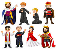Different characters of king and priest Stock Image