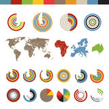 Different chart and indicators collection Stock Photos