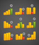 Different charts collection Royalty Free Stock Images