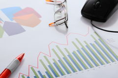 Different charts Royalty Free Stock Images