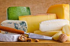 Different cheese food Royalty Free Stock Image