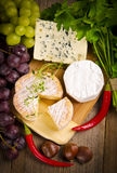 Different cheese kinds Royalty Free Stock Photography
