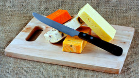 Different  cheeses Royalty Free Stock Images
