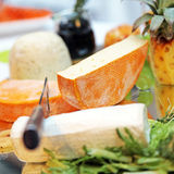 Different cheeses - close-up Stock Image