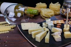 Different cheeses Royalty Free Stock Photo