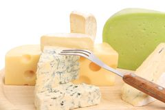 Different cheeses. Royalty Free Stock Image