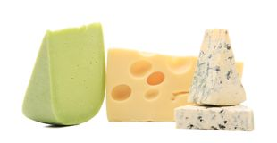 Different cheeses. Stock Photography