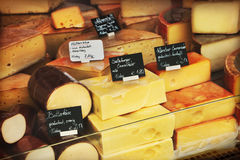 Cheeses shop Royalty Free Stock Photo