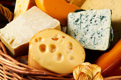 Different cheeses varieties Stock Photography