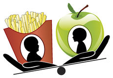 Different Child Nutrition Royalty Free Stock Photos