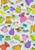 Different child`s clothes background Stock Images