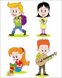 Different children character Stock Image