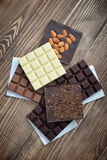 Different Chocolate bar Stock Images