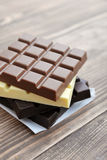 Different Chocolate bar Stock Image