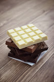 Different Chocolate bar Royalty Free Stock Photography