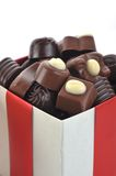 Different chocolate in box Stock Photography