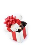 Different chocolate in box royalty free stock photography