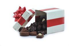 Different chocolate in box Royalty Free Stock Photo