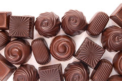 Different chocolate candies Royalty Free Stock Photo