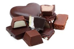 Different chocolates Royalty Free Stock Photography