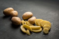 Different chopped Potatoes Stock Images