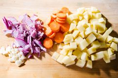 Different chopped vegetables Stock Photo