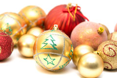 Different Christmas balls Stock Image