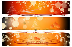 Different christmas banner set Royalty Free Stock Photos