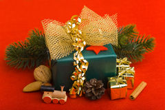 Different christmas decoration Stock Images