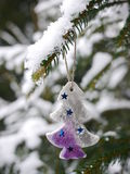 Different christmas decoration hanging christmas Royalty Free Stock Photo