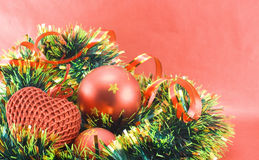 Different christmas decorations Stock Photos