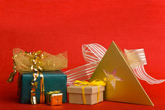 Different christmas gifts Stock Photo