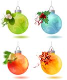Different christmas glass balls Stock Image