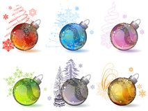 Different christmas glass balls Royalty Free Stock Photography