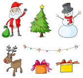 Different christmas symbols Stock Photo