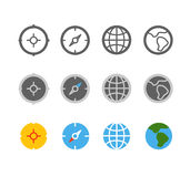 Different circle travel icons clip-art Royalty Free Stock Images