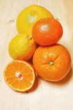 Different citrus fruits Royalty Free Stock Photos