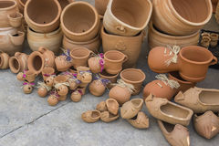 Different clay pots Royalty Free Stock Photo