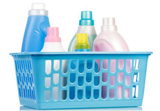 Different cleaning items Stock Photos