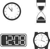 Different clock types vector illustration