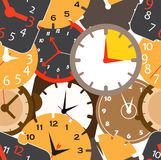 Different clocks Royalty Free Stock Photos