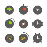 Different clocks color collection Royalty Free Stock Images