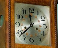 Old clock, refurbished stock image