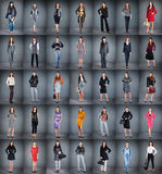 Different clothes. Girls in different clothes, collection from 35 pieces Royalty Free Stock Photo