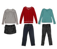 Different clothes for children Royalty Free Stock Image