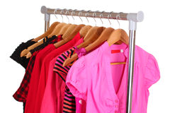 Different clothes on hangers Royalty Free Stock Image