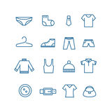 Different clothes silhouettes Royalty Free Stock Images