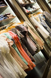 Different clothes in a store Royalty Free Stock Image