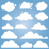 Different cloud vector set Royalty Free Stock Images
